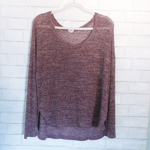 Burgundy Garage Loose Knit Sweater M